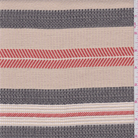 *2 3/8 YD PC--Beige/Brown/Orange Stripe Tapestry