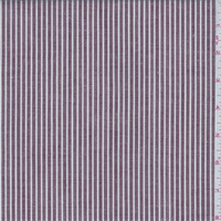 *1 1/2 YD PC--Maroon/White Stripe Linen