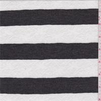 *2 YD PC--Charcoal/White Stripe Sweater Knit
