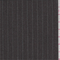 *2 1/2 YD PC--Taupe/Sage Pinstripe Wool Flannel