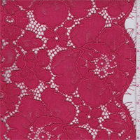 Jewel Red Heavy Floral Lace