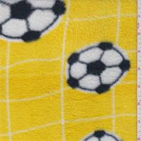 Yellow Soccer Polyester Fleece