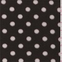 Brown/White Polka Dot Polyester Fleece