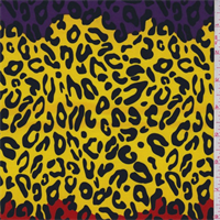 Ity Knit Purple/Red/Yellow Cheetah Print Jersey Knit