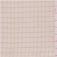 *3 YD PC--Pink Beige Check Rayon Mesh