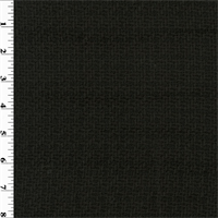 *1 7/8 YD PC--Black Wool Dobby Twill Jacketing