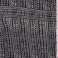 *2 1/2 YD PC--Black/White Tribal Jersey Knit
