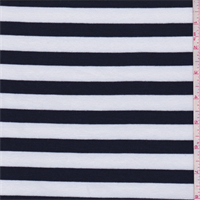 *3 YD PC--Dark Navy/White Stripe Jersey Knit
