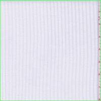 White Cotton Rib Knit