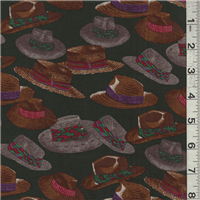 *3 1/8 YD PC--Hunter Hat Print Cotton