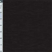 *3 YD PC--Black Slub Jersey Knit