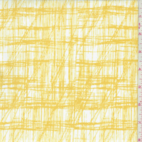 White/Yellow Sketch Plaid Swimwear