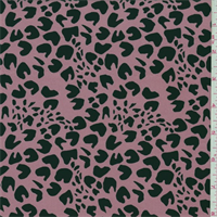 Rose/Black Abstract Cheetah Swimwear
