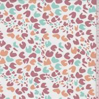 White/Rose/Mint Abstract Cheetah Swimwear