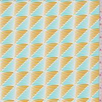 Aqua Green/Gold Cyclone Print Swimwear