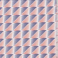 Navy/Orange Cyclone Print Swimwear