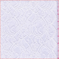 *2 1/2 YD PC--Winter White Floral Lace