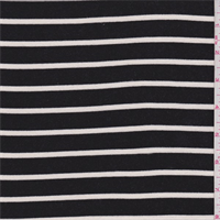 Black/White Stripe French Terry Knit