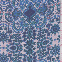 Pink/Green/Blue Medallion Print Chiffon