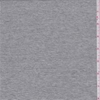 White/Black Pinstripe Jersey Knit