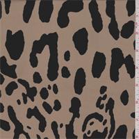 Camel Brown/Black Animal Print Crepe de Chine