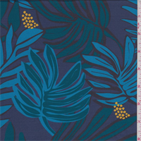 *2 YD PC--Slate/Jade/Turquoise Tropical Activewear