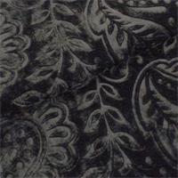*3/4 YD PC - Black Paisley Embossed Silk Velvet Home Decorating Fabric