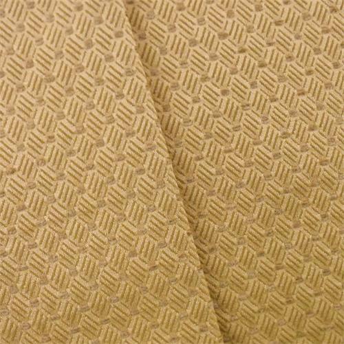Golden Yellow Diamond Woven Home Decorating Fabric Dfw52554