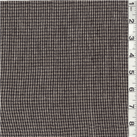 *2 1/2 YD PC--Black/Tan Plaid Suiting