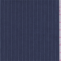 *3 1/2 YD PC--Navy Stripe Denim Look Suiting