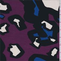 Magenta Multi Modern Animal Print Tencel Jersey Knit