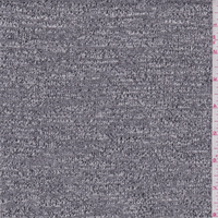 *2 5/8 YD PC--Dark Grey/White Slubbed Sweater Knit