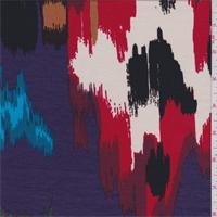 Purple Multi Southwest Print Tencel Jersey Knit