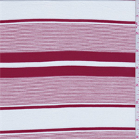 White/Red Stripe Tencel Jersey Knit