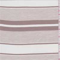 White/Tan Stripe Tencel Jersey Knit