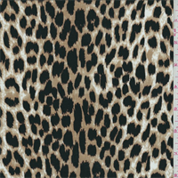 Tan/Black Cheetah Print Tencel Jersey Knit