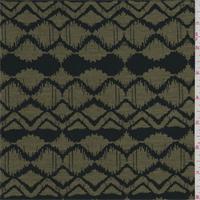 Army Green/Black Zig Zag Print Tencel Jersey Knit