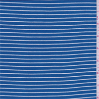 Aqua Blue/White Stripe Rib Knit