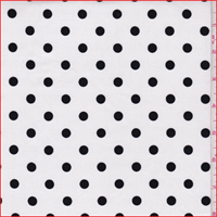 White/Black Polka Dot Stretch Corduroy