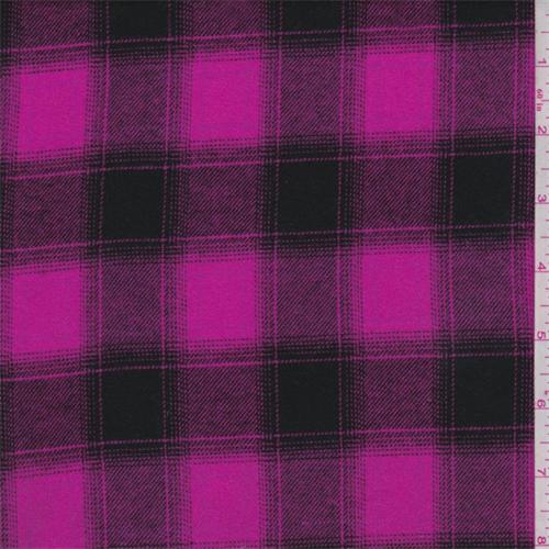 Hot Pink Black Plaid Flannel 67648 Discount Fabrics