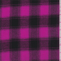 Hot Pink/Black Plaid Flannel