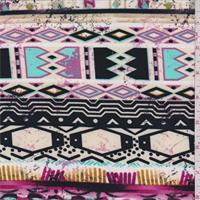 ITY Beige Multi Aztec Stripe Jersey Knit