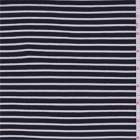 *4 YD PC--Black/White Stripe Rayon Jersey Knit