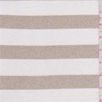 *3 YD PC--White/Gold Stripe Jersey Knit