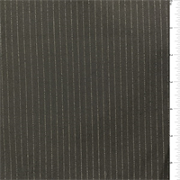 *1 7/8 YD PC--Charcoal/Gold Pinstripe Suiting