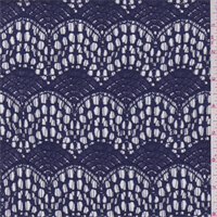 *3 3/8 YD PC--Navy Sea Fan Lace