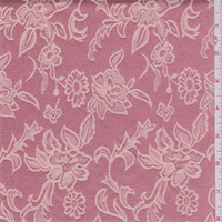 *4 1/4 YD PC--Coral Pink/Beige Floral Satin Jacquard