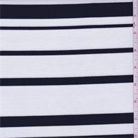 *2 3/8 YD PC--White/Black Stripe Double Knit