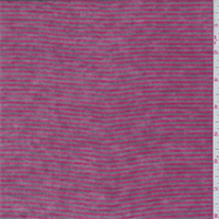 *3 3/8 YD PC--Raspberry Pink/Taupe Stripe T-Shirt Knit