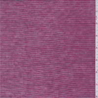 *3 3/8 YD PC--Raspberry Pink/Taupe Stripe T-Shirt Knit
